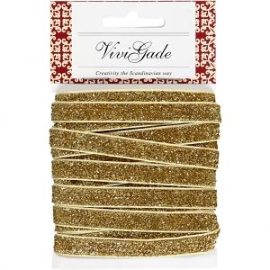 Decorative Ribbon, W: 10 mm, Gold, 5 M C52444