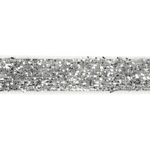 Decorative Ribbon, W: 10 mm, Silver, 5 M C52446