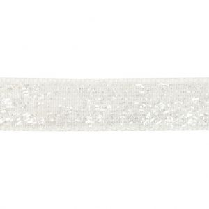 Decorative Ribbon, W: 10 mm, White, 5 M C52448