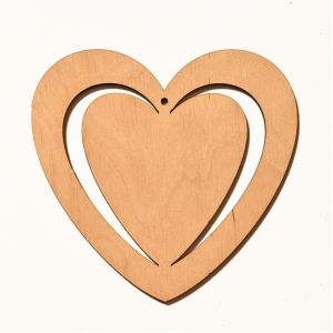 Wooden figurine - Heart 9,5cm IDEA1818