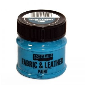 Fabric and leather paint 50ml - turquoise blue P34814