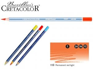 Watercolor pencil Marino - permanent red light AR24113