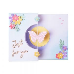 Sizzix Thinlits Die Set  14PK Butterfly Spinner Card