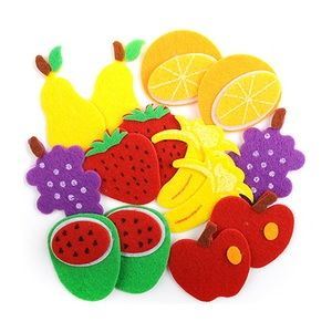 3D felt stickers - fruits 14 pcs. KSFI-027