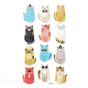 Foam stickers 12 pcs - Cats DPPI-016