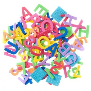 Foam stickers 94 pcs - Letters and numbers KSPI-419