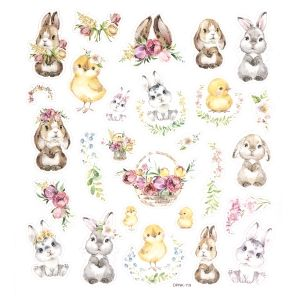 Glitter stickers 27pcs - Bunnies and chiks DPNK-119