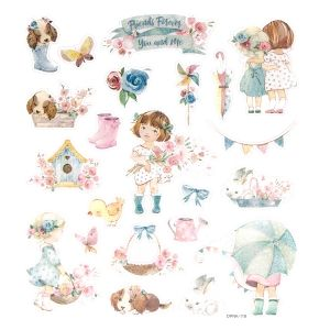 Glitter stickers 22pcs - Marisella and  me DPNK-118