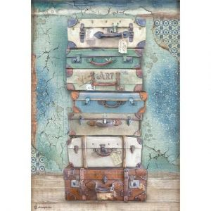 Decoupage Rice Paper A4 - Atelier luggage DFSA4547