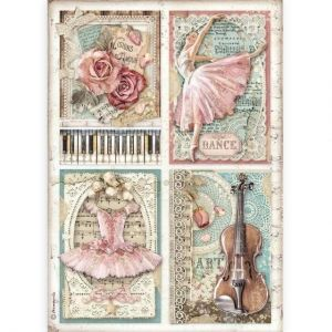 Decoupage Rice Paper A4 - Passion cards DFSA4542