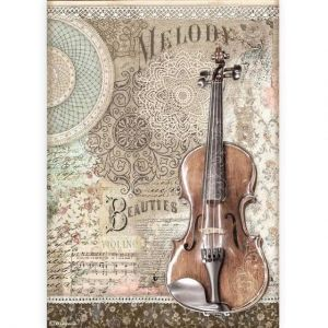 Decoupage Rice Paper A4 - Passion violin DFSA4538