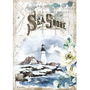 Decoupage Rice Paper A4 - Romantic Sea Dream Sea Shore DFSA4558