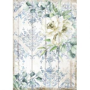 Decoupage Rice Paper A4 - Romantic Sea Dream white flower DFSA4561