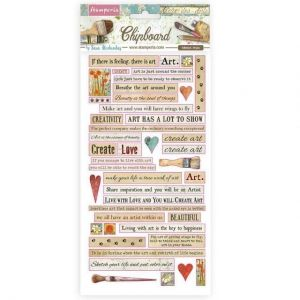 Chipboard 15x30 cm - Atelier quotes DFLCB24