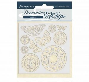 Chipboard 14x14 cm - Amazon butterfly tribal SCB42