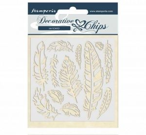 Chipboard 14x14 cm - Amazon feather SCB40