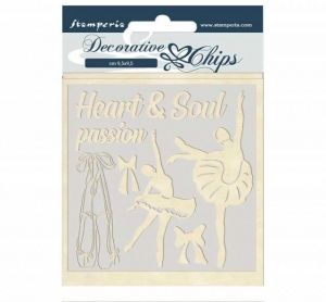 Chipboard 14x14 cm - Passion dancer SCB45