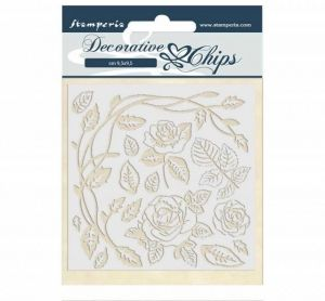 Chipboard 14x14 cm - Passion roses SCB44