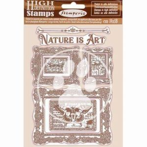 Rubber stamp 14x18cm - Nature is Art frames WTKCC200