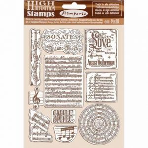 Rubber stamp 14x18cm - Passion music WTKCC197