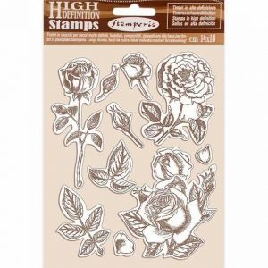 Rubber stamp 14x18cm - Passion rose WTKCC198