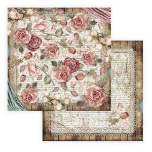 "Double face scrap paper 12""x12"" - Passion roses and laces SBB771"