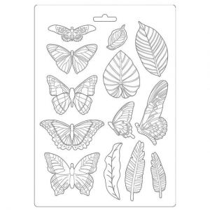 Soft Moulds A4 - Amazonia leaves and butterflies K3PTA489