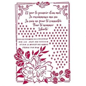 Stencil 21x29,7cm - Romantic Journal flower with frame KSG457