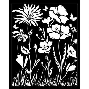 Thick stencil 20x25 cm - Atelier poppy and flower KSTD072