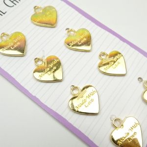 Dovecraft Essentials Metal Charms Gold, 8 pieces, DCBS251
