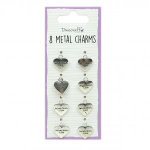 Dovecraft Essentials Metal Charms Silver, 8 pieces, DCBS252