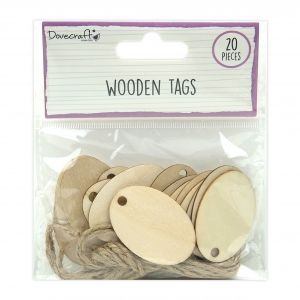 Wooden Tags - oval - 20 pcs. DCBS260
