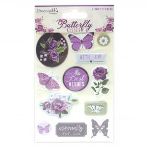 Dovecraft Shaker Stickers (12pcs) - Butterfly Kisses DCSTK098