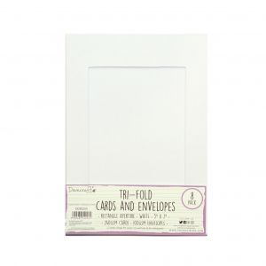 Tri-fold Cards and Envelopes, 8 pc., A5, white, DCBS255