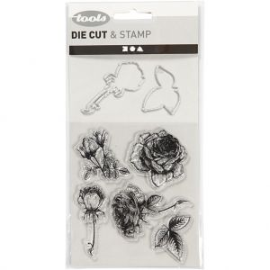 Clear Stamps And Cutting Dies, Flowers C117483