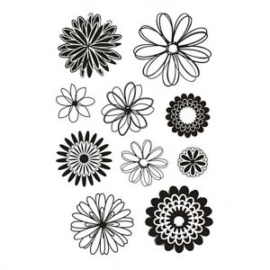 Clear stamps 11x15.5cm - Flowers C240015