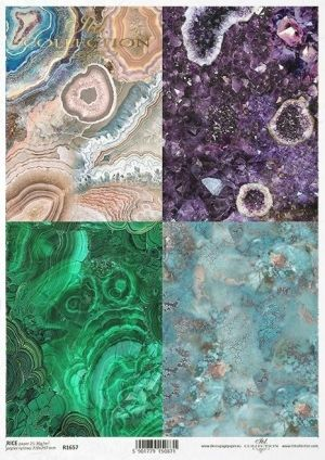Decoupage Rice Paper А4 - Gemstones ITD-R1657