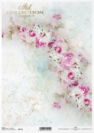 Decoupage Rice Paper А4 - Shabby Chic for Spring 2 ITD-R1674