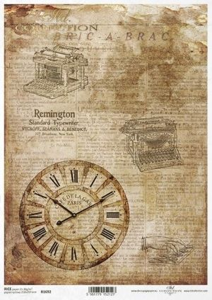 Decoupage Rice Paper А4 - Time Machine ITD-R1692