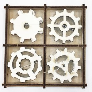 Chipboard 2mm set 20pcs  - Gears IDEA1651