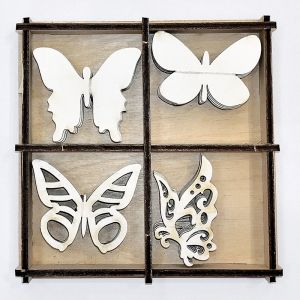 Chipboard 2mm set 20pcs  - Butterflies IDEA1648