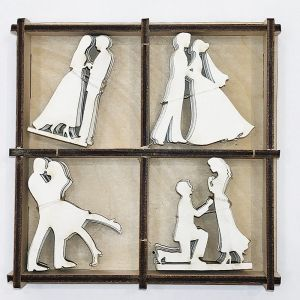 Chipboard 2mm set 20pcs  - Wedding IDEA1642