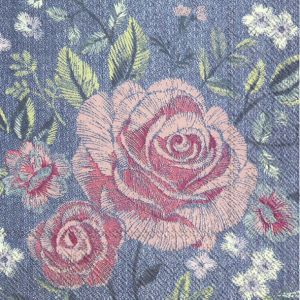 Decoupage napkins 25x25cm 20pcs - Denim rose C910000