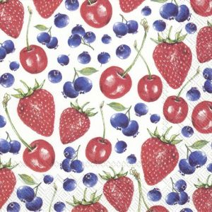 Decoupage napkins 25x25cm 20pcs -Litle lovely berries C852200