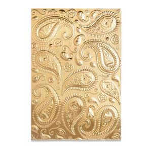Sizzix 3-D Textured Impressions Embossing Folder - Paisley 664796