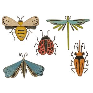 Sizzix Thinlits Die set 5 PK Funky Insects 665364