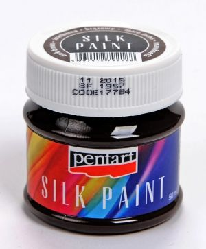 Silk paint 50ml - dark brown P17784