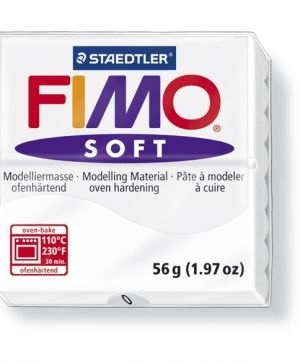FIMO soft modelling clay 56g - white 0 G80200