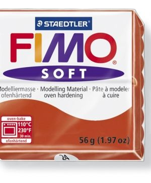 FIMO soft modelling clay 56g - indian red 24 G802024