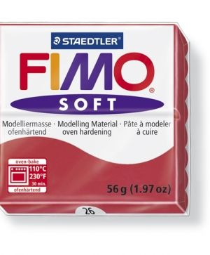 FIMO soft modelling clay 56g - cherry red 26 G802026
